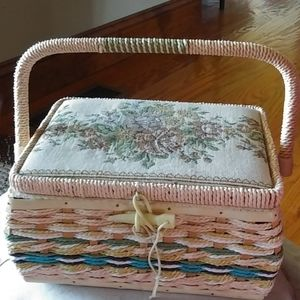 Fabulous very vintage tapestry sewing box